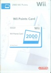 Wii point card 2000